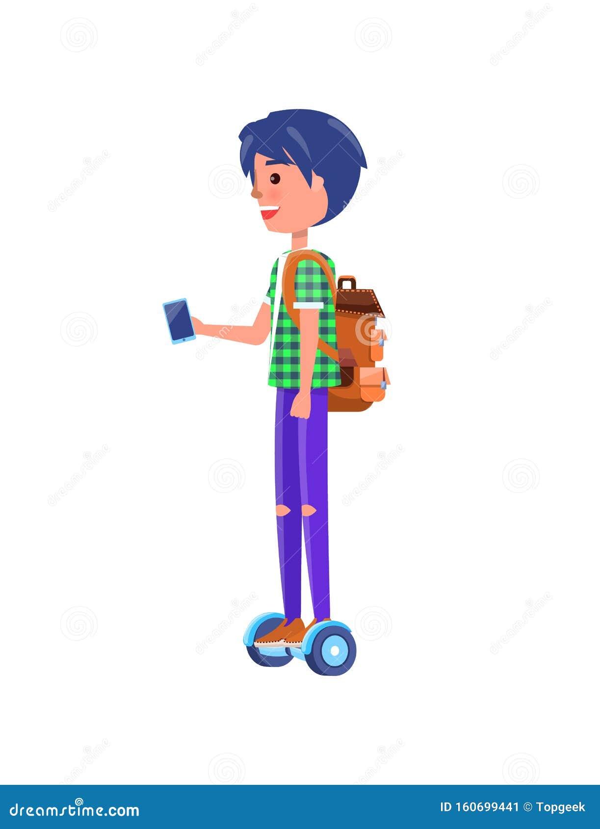 мальчик на транспортере