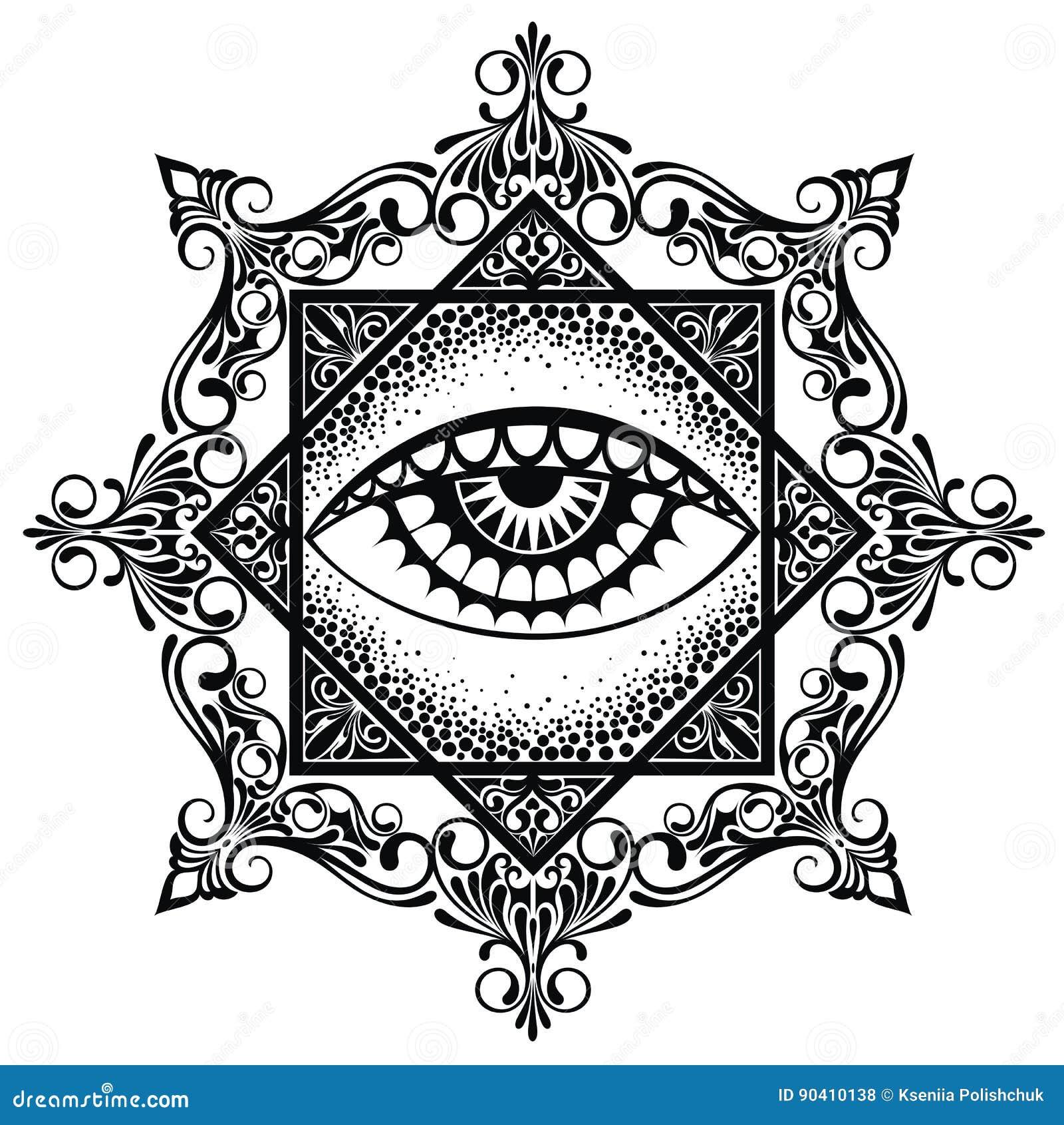 Мандала пирамиды глаза