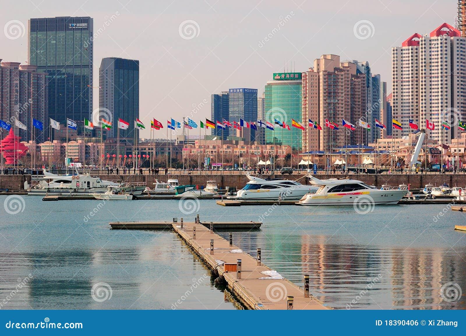Марина яхты города Китая Qingdao
