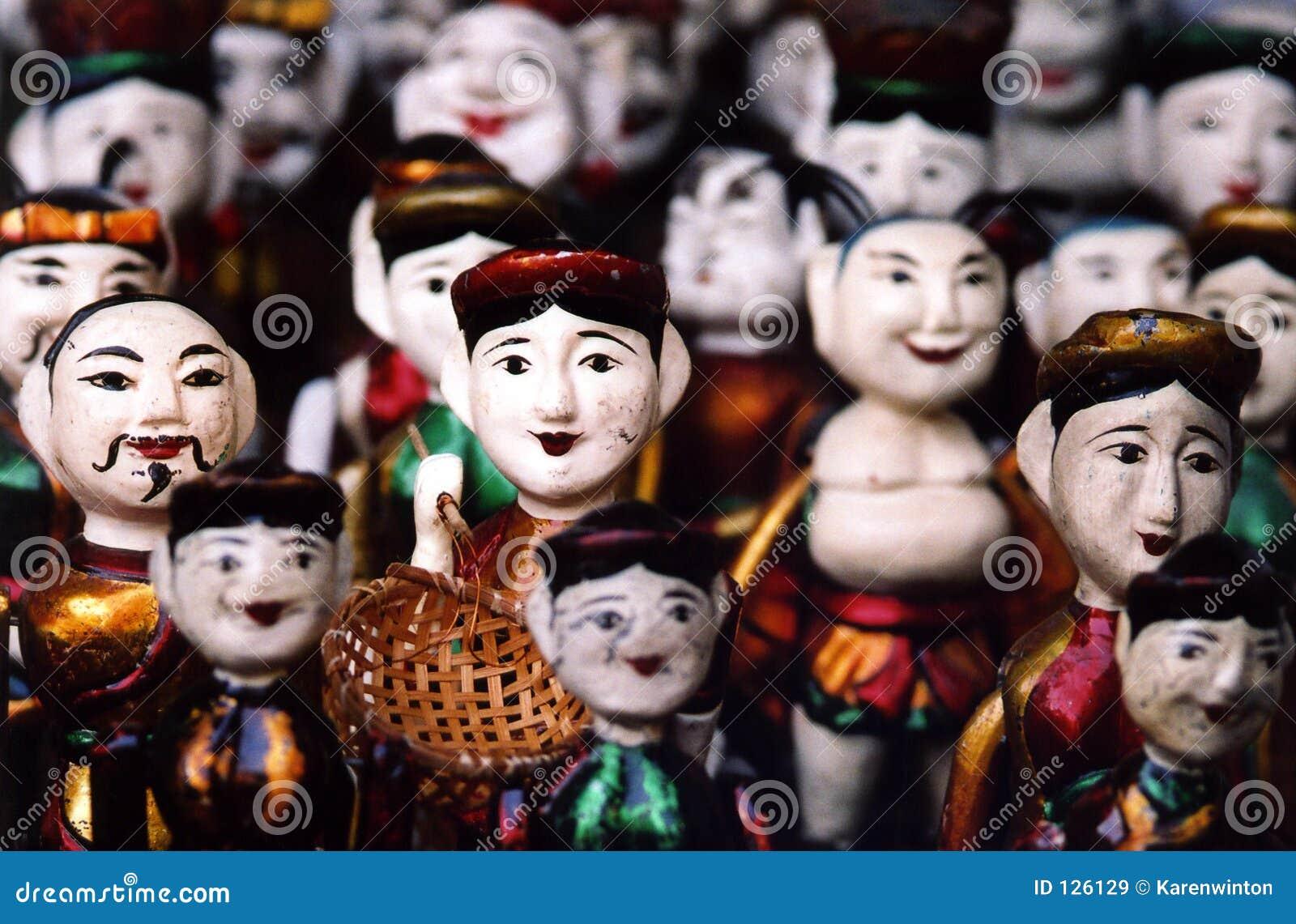 марионетки Вьетнам hanoi деревянный