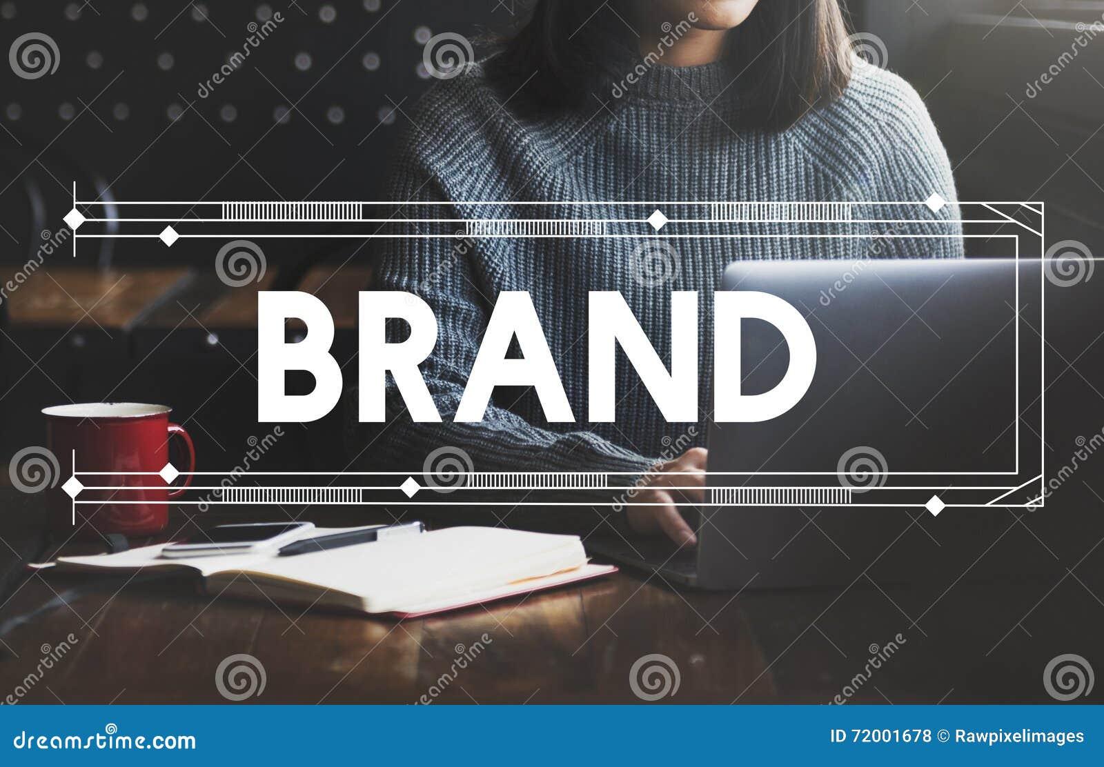 Маркетинг бренда клеймя концепция продукта коммерчески рекламы