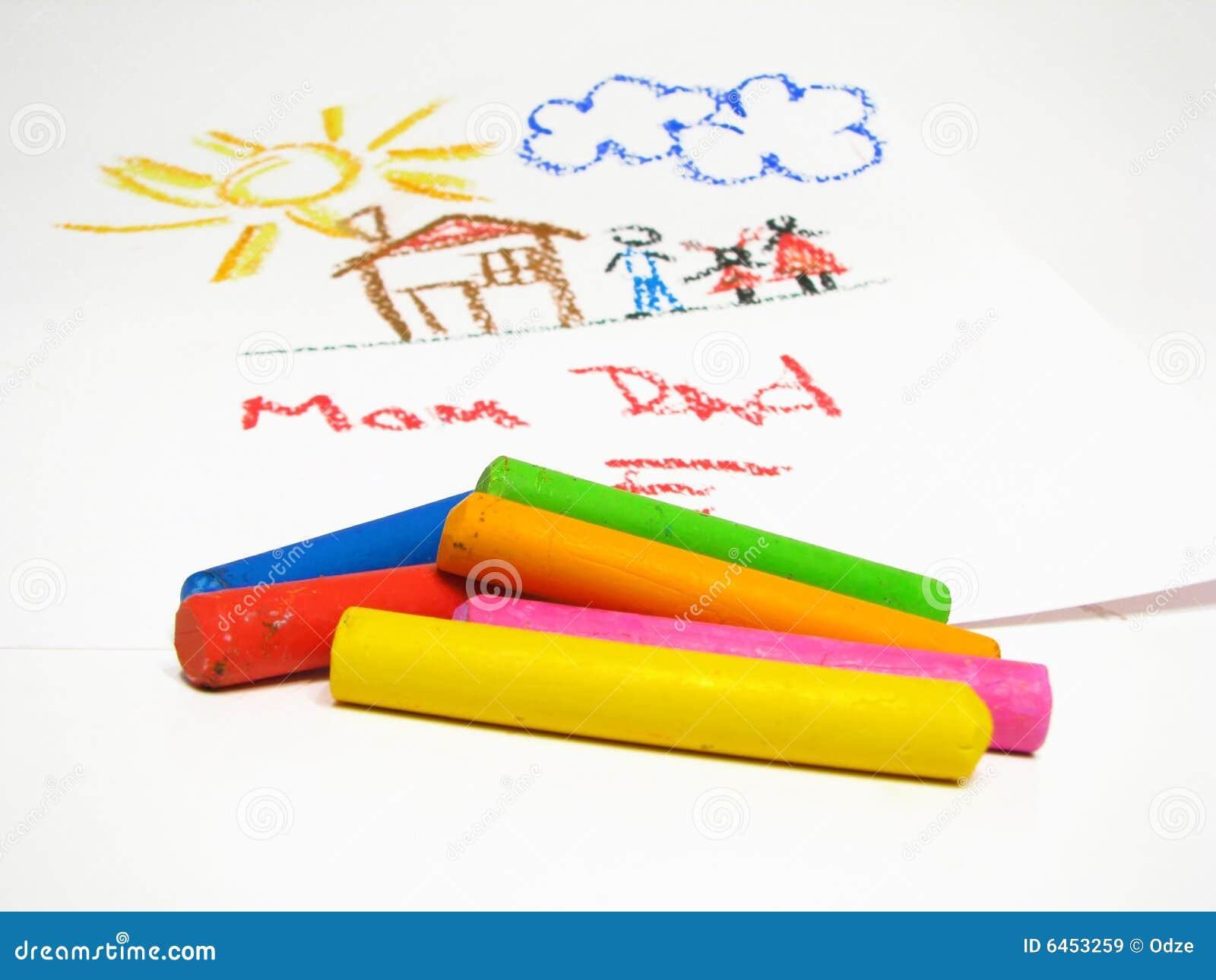 масло s чертежа crayons детей