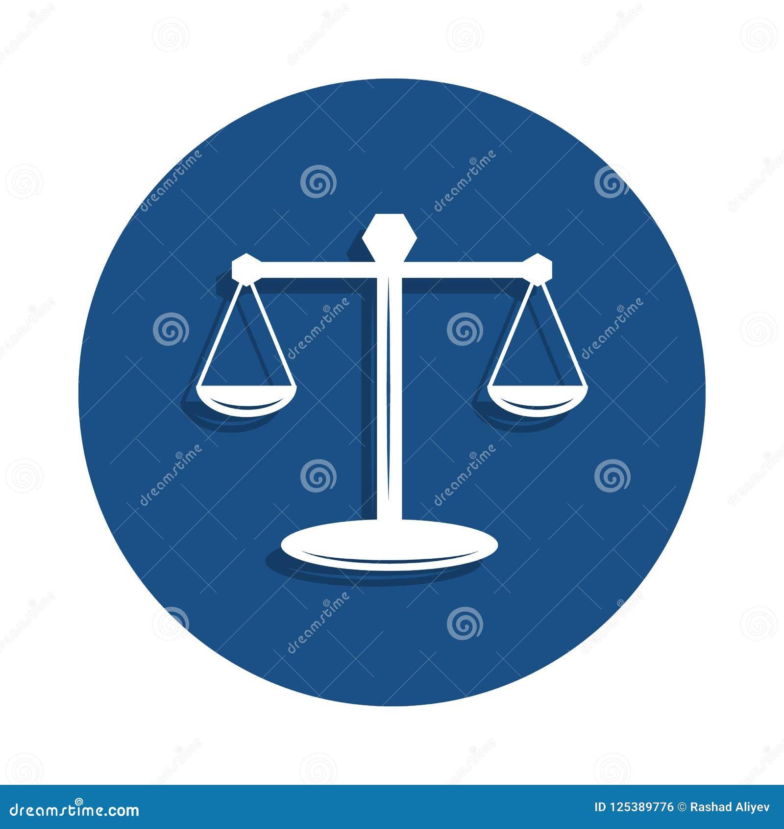 масштабы значка закона в стиле значка Одно значка собрания полиции можно использовать для UI, UX