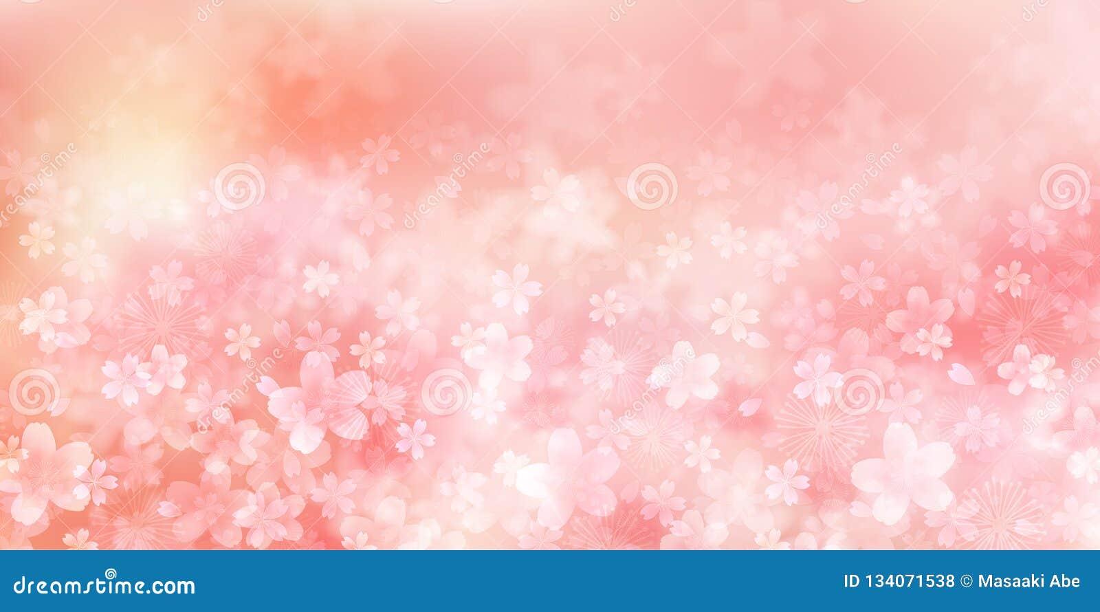 Материал иллюстрации вишни который отображал японская весна