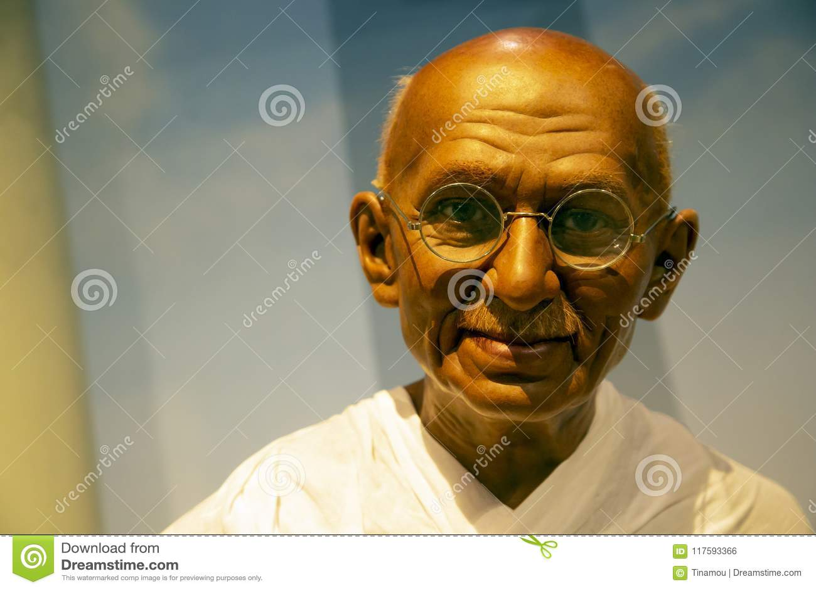 Махатма Ганди в Мадам Tussauds Нью-Йорка