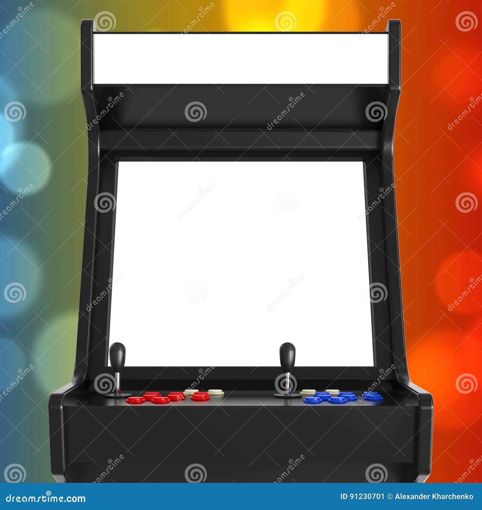 Машина аркады игры с пустым экраном для вашего дизайна 3d разрывают