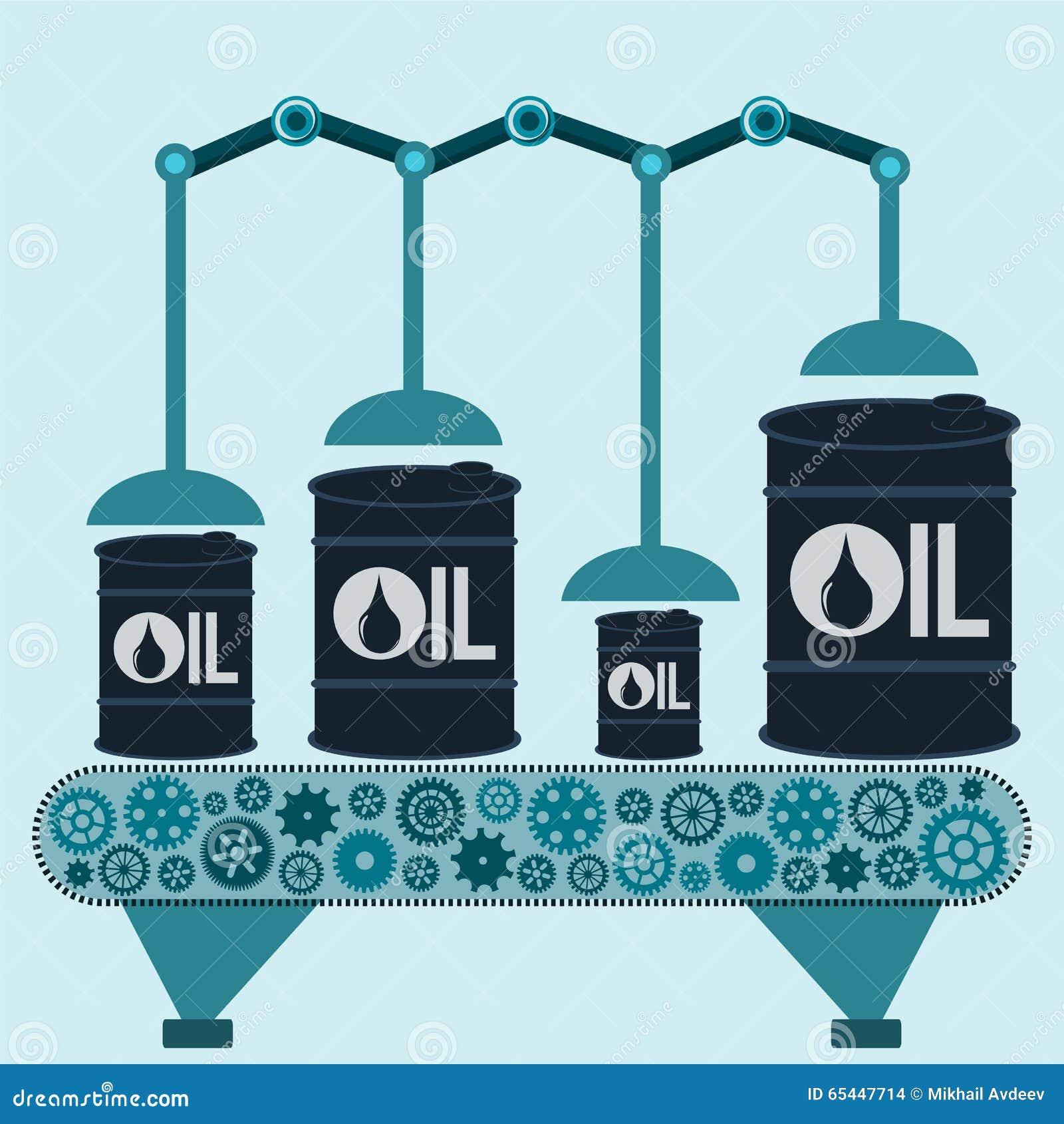 Машина делает баррели нефти Добыча нефти