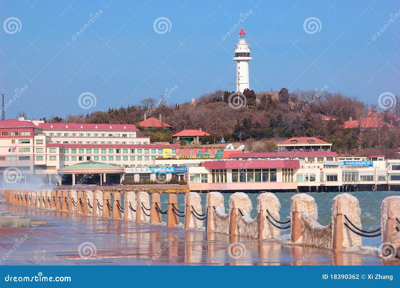 Маяк города Китая Yantai