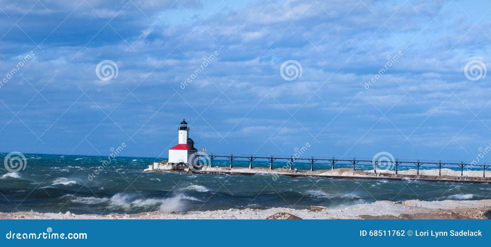 маяк Мичиган США Индианы города