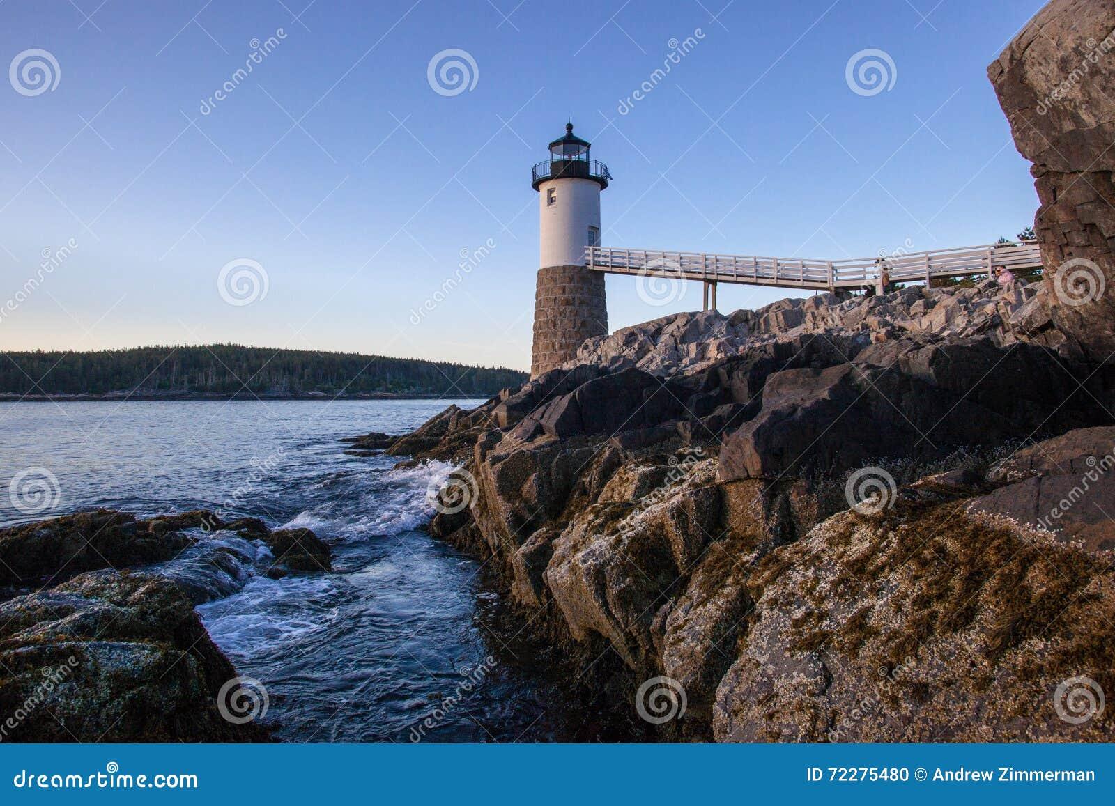 Download Маяк, Au Haut острова, Мейн Стоковое Фото - изображение насчитывающей маяк, мейн: 72275480