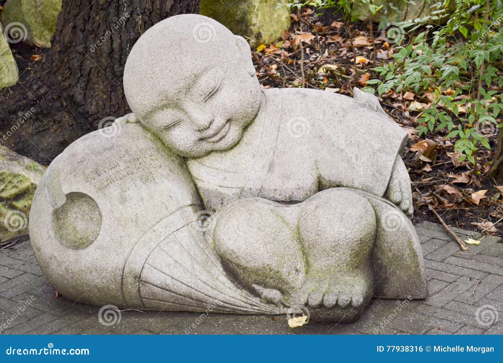Маленький Будда, китайский сад приятельства, гавань милочки, Сидней, Новый Уэльс, Австралия