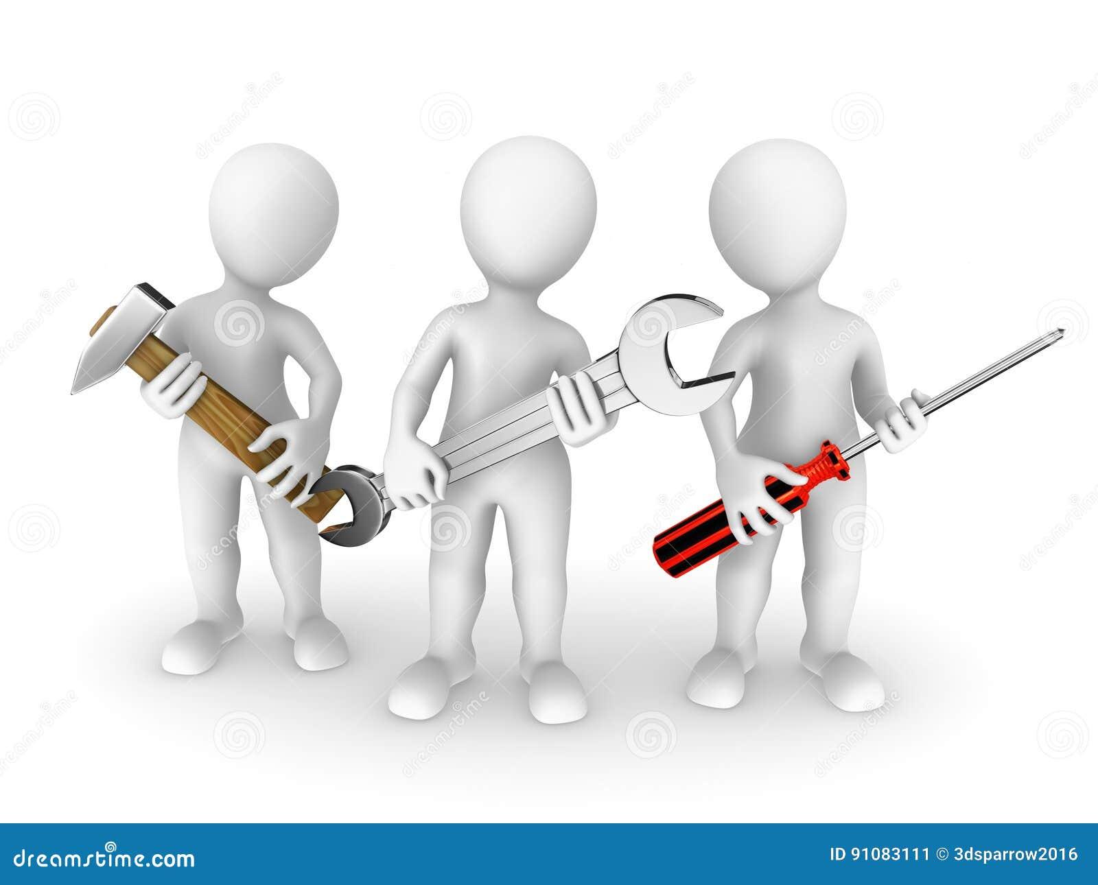 малые люди 3d с инструментами