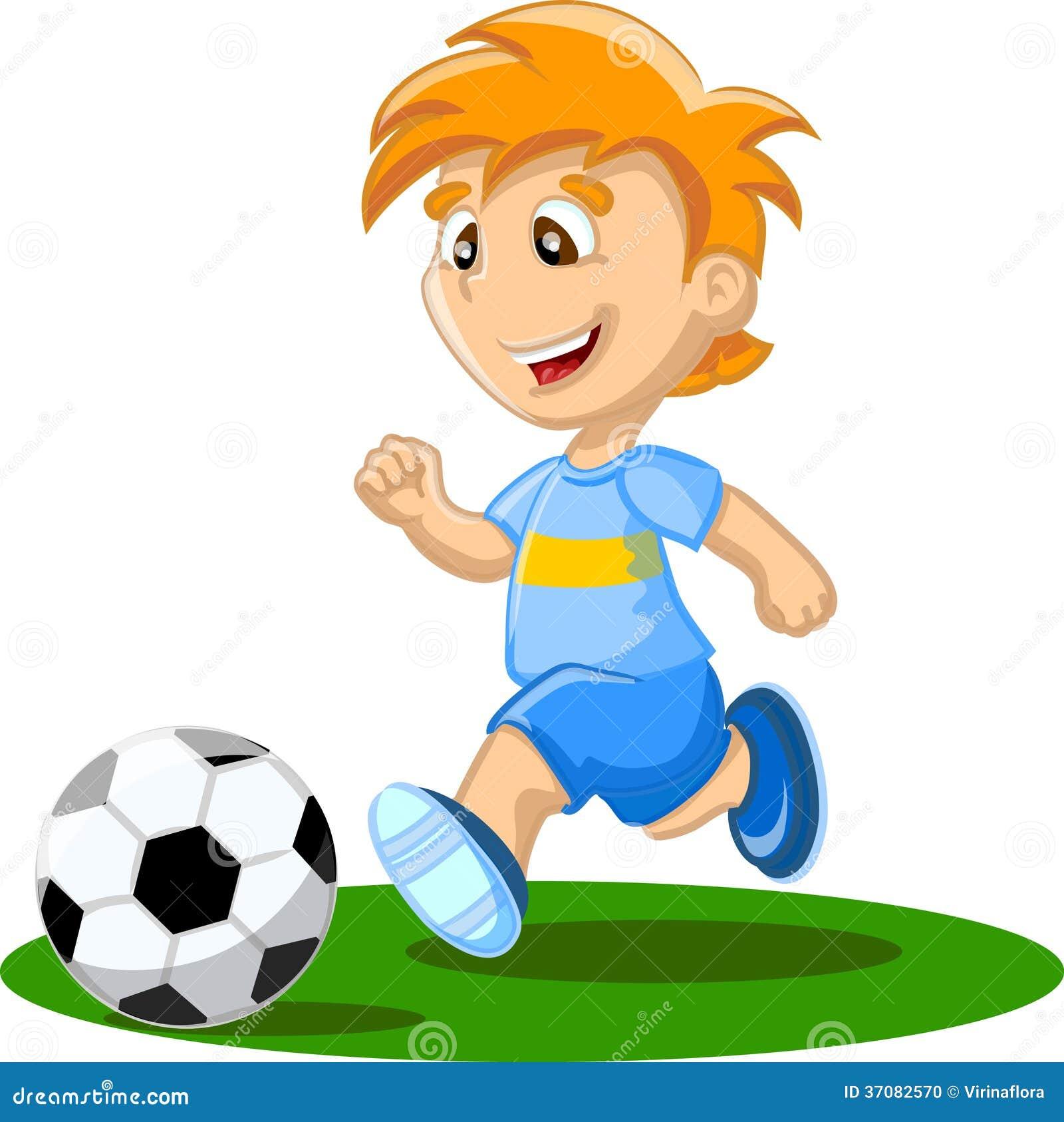 Футбол играет мальчик