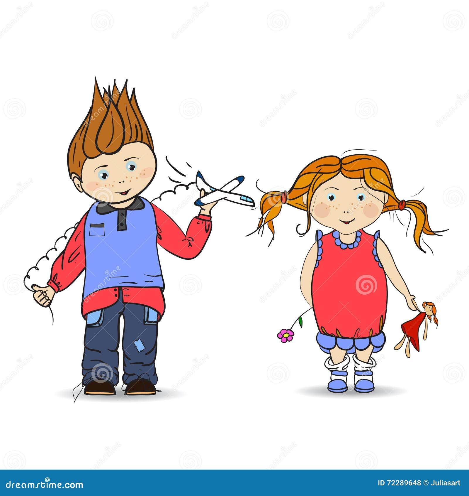 Download Мальчик и девушка вектор иллюстрация вектора. иллюстрации насчитывающей спирта - 72289648