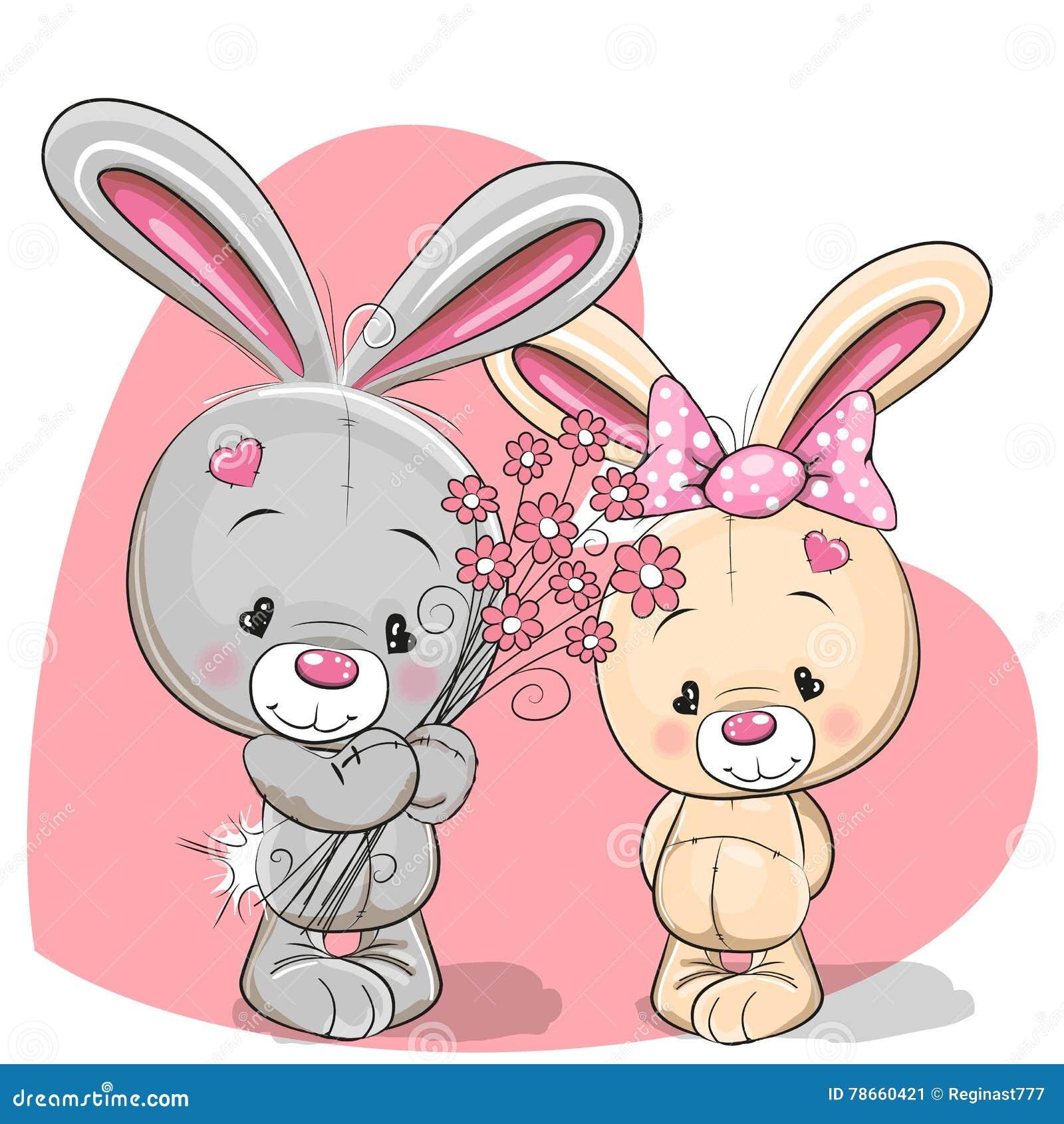 Мальчик и девушка кролика