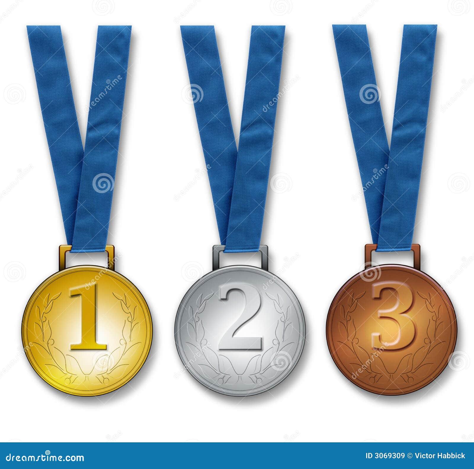 медали 3 победителя Стоковые Изображения RF - изображение: 3069309