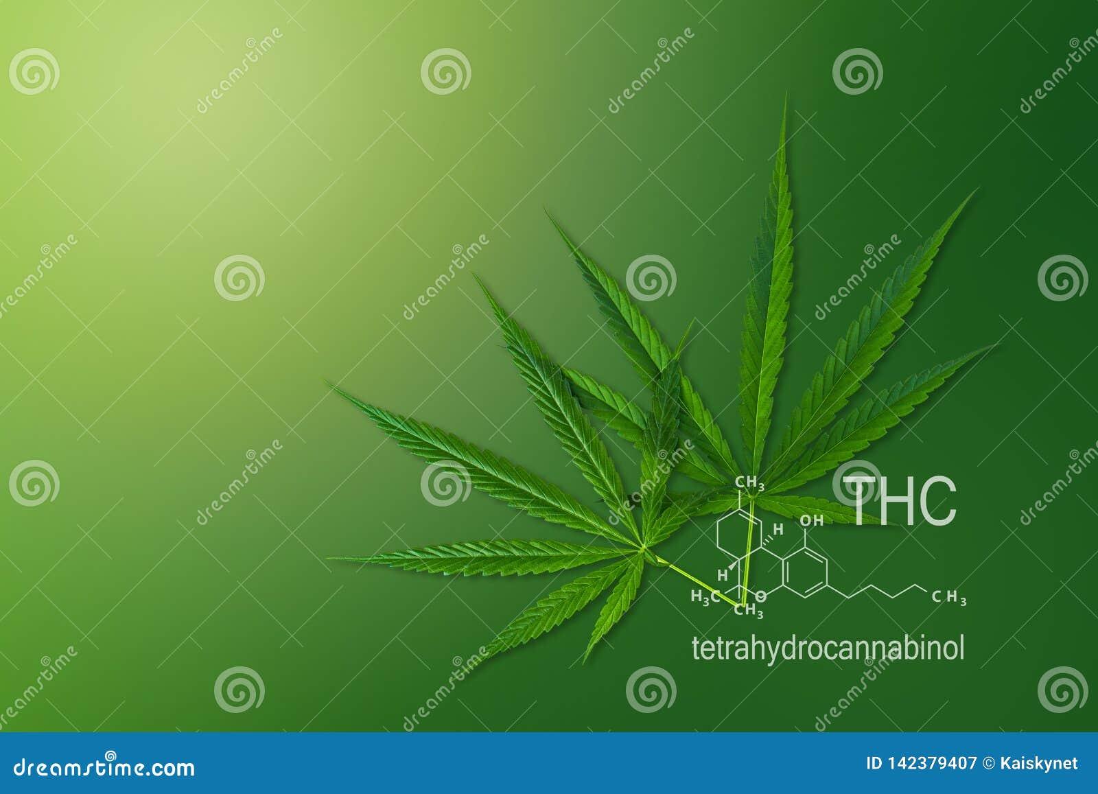 Медицинская пенька THC химической формулы, tetrahydrocannabinol марихуаны молекулярной структуры