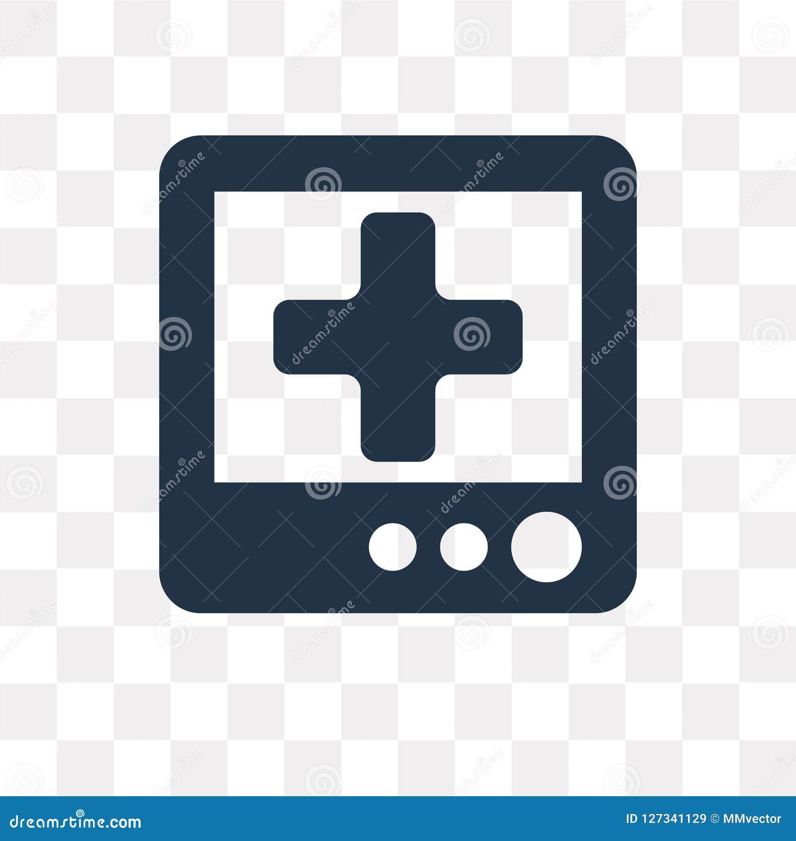 Медицинский значок вектора назначения изолированный на прозрачном backgrou