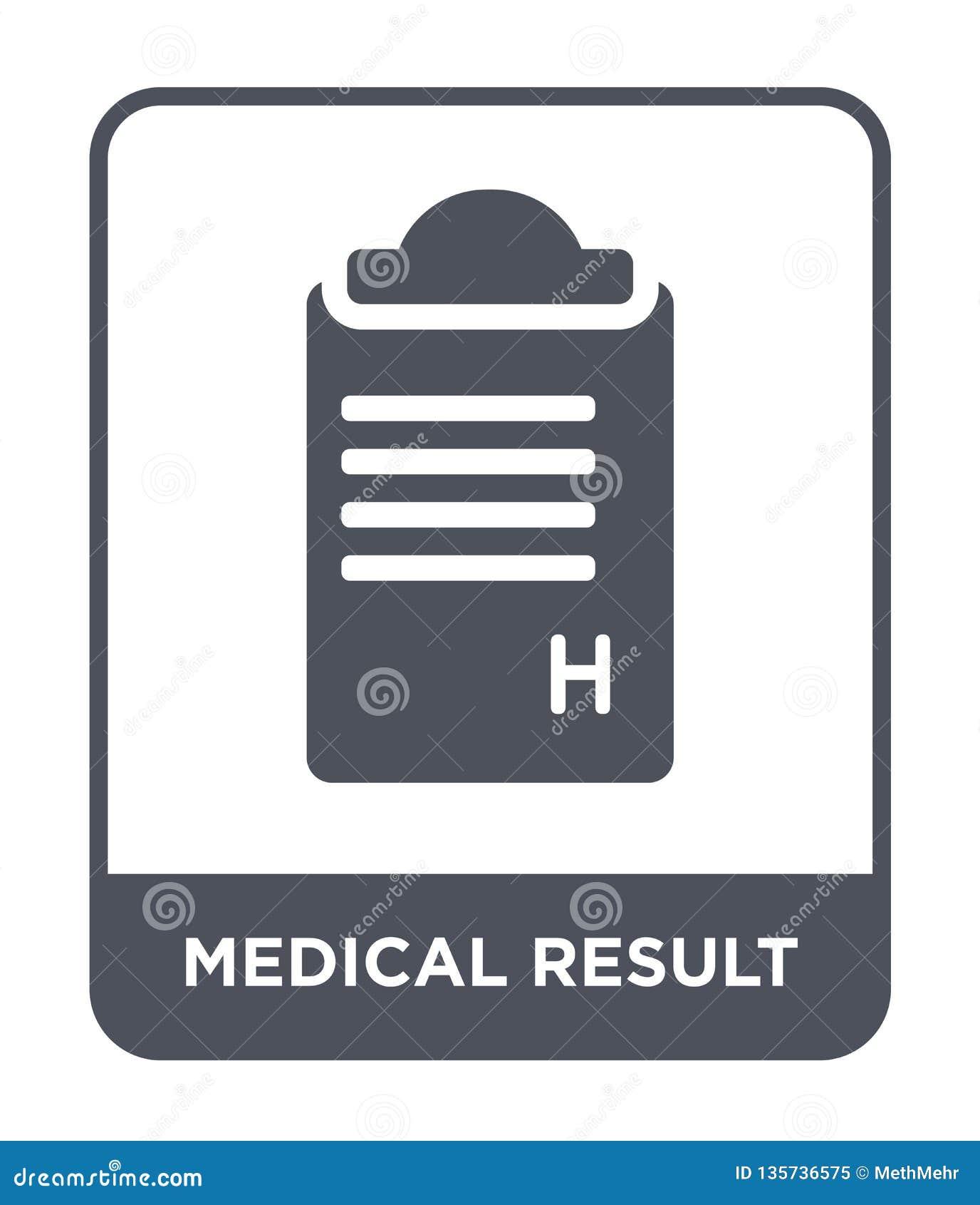 медицинский значок результата в ультрамодном стиле дизайна медицинский значок результата изолированный на белой предпосылке медиц