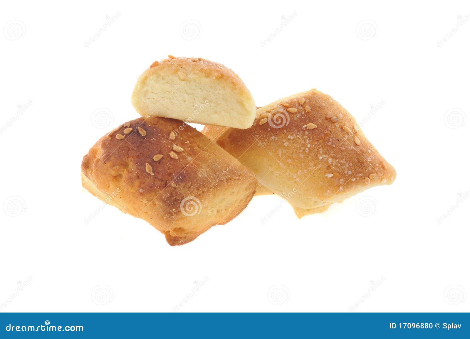 Мед, изолированные печенья молока