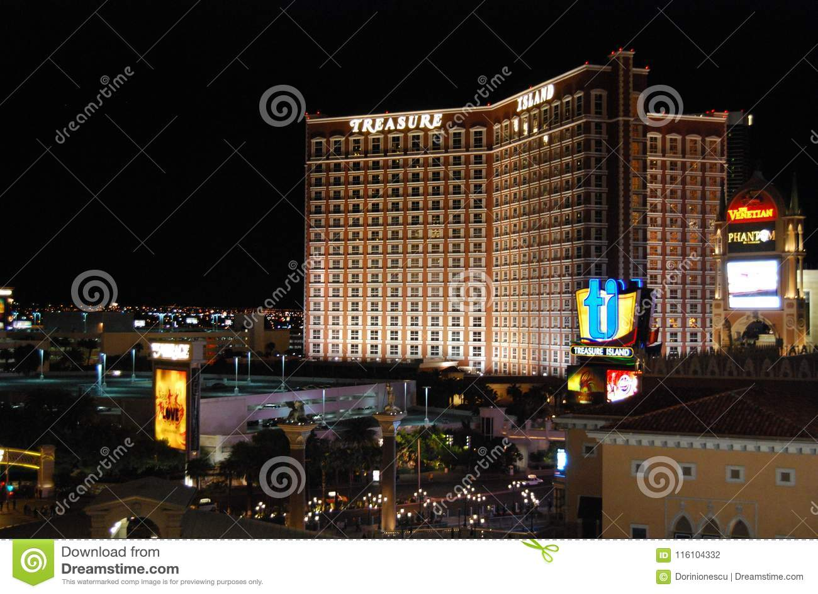 Международный аэропорт McCarran, прокладка Лас-Вегас, Лас-Вегас, Palazzo, район метрополитена, ноча, город, метрополия