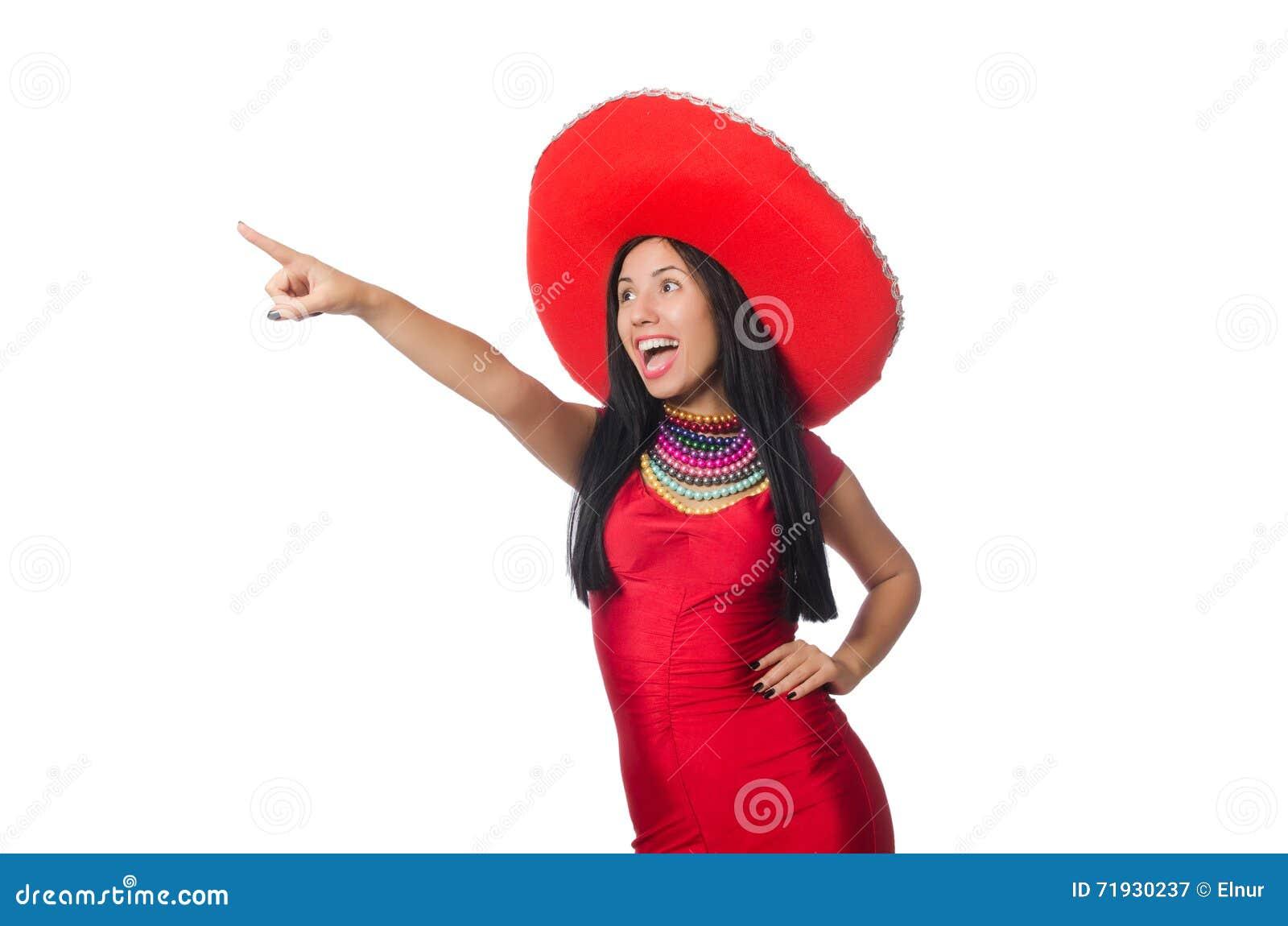 Мексиканская женщина в концепции моды