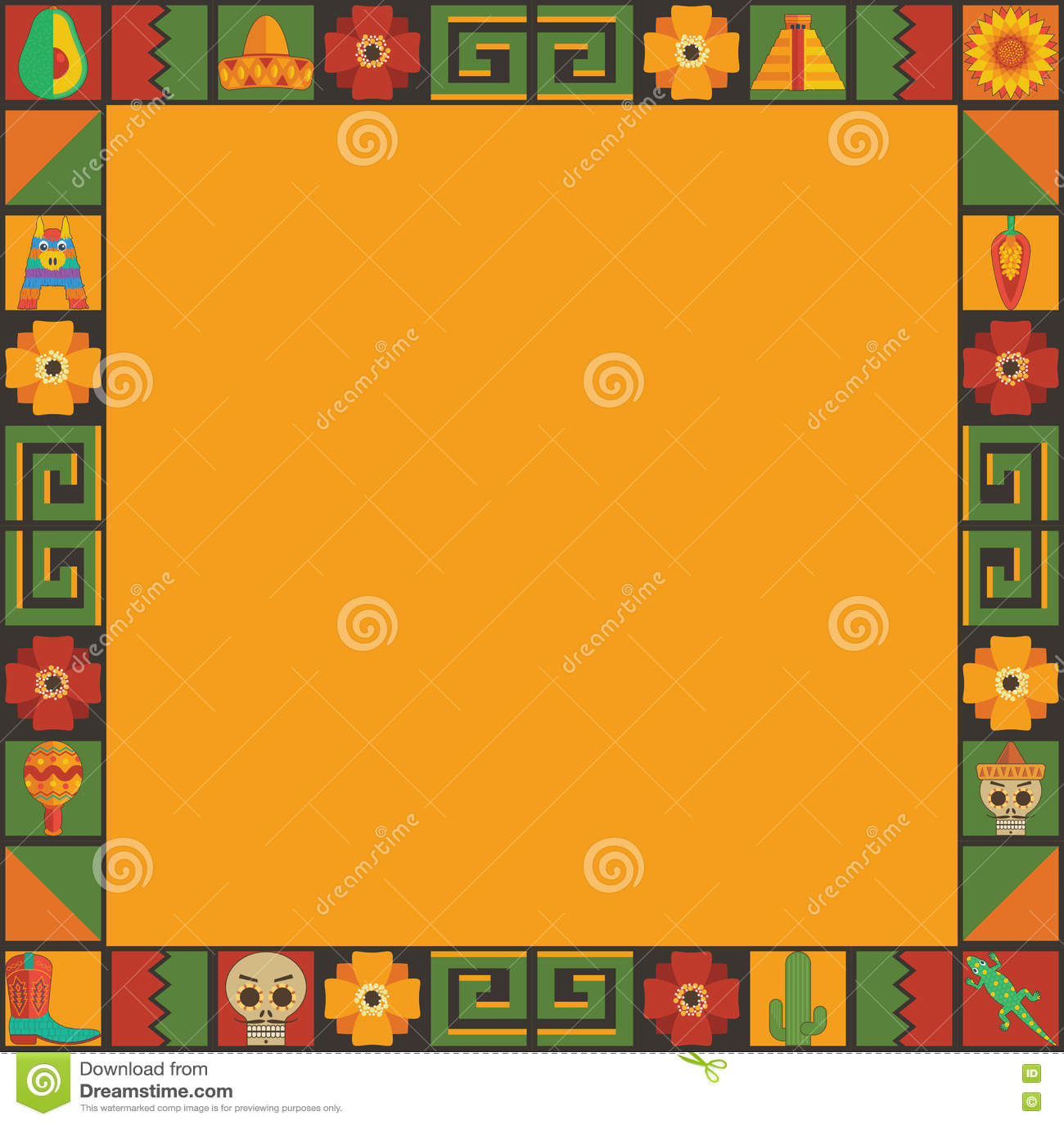 Мексиканский орнамент рамки