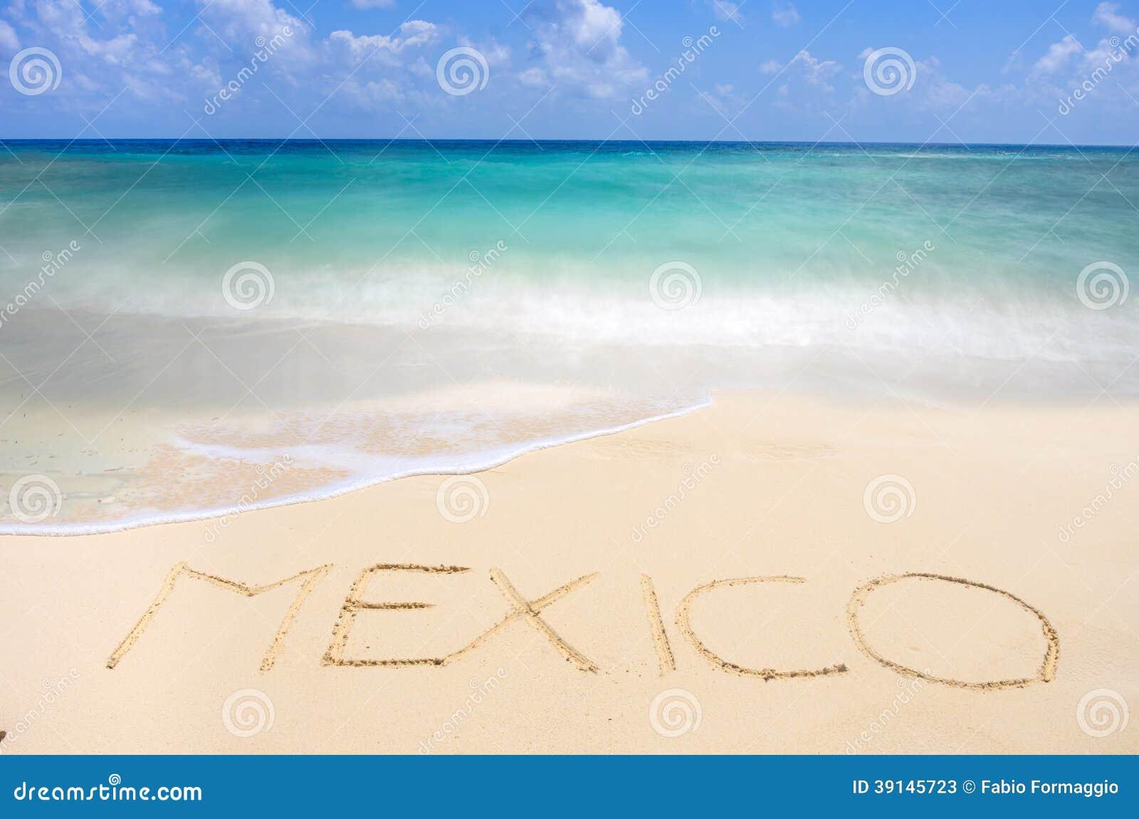 Мексиканский тропический пляж