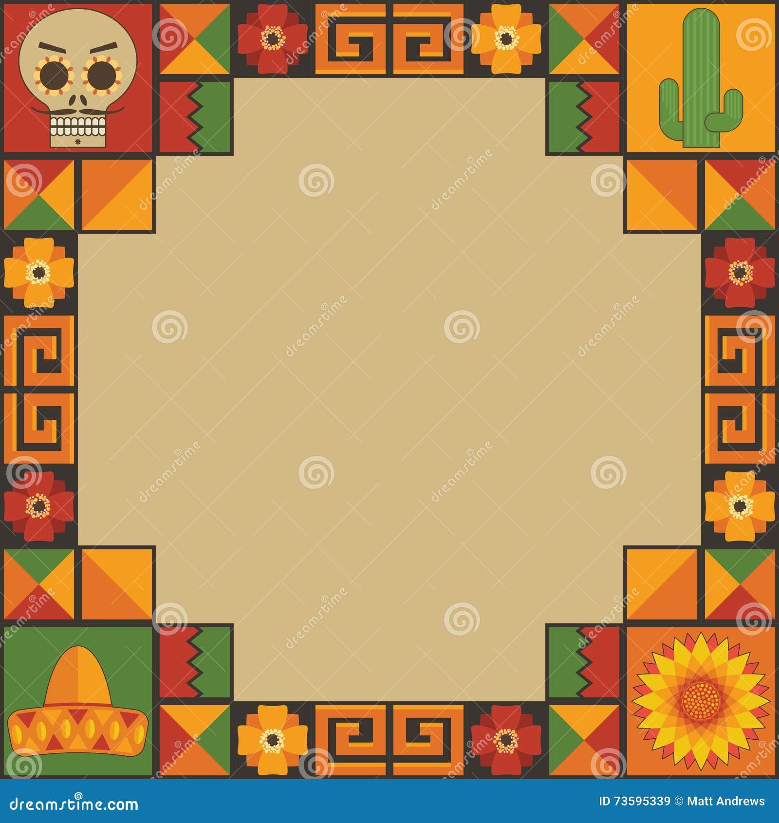Мексиканское украшение рамки