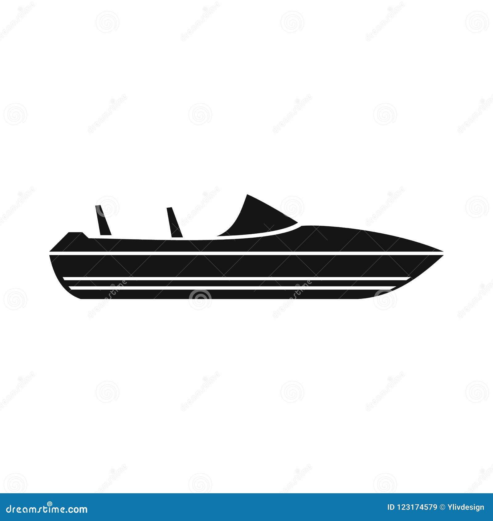 Меньший значок powerboat, простой стиль