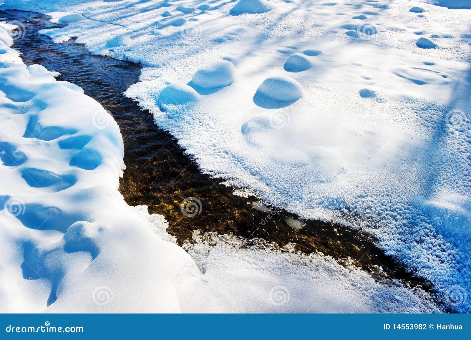 меньший снежок реки