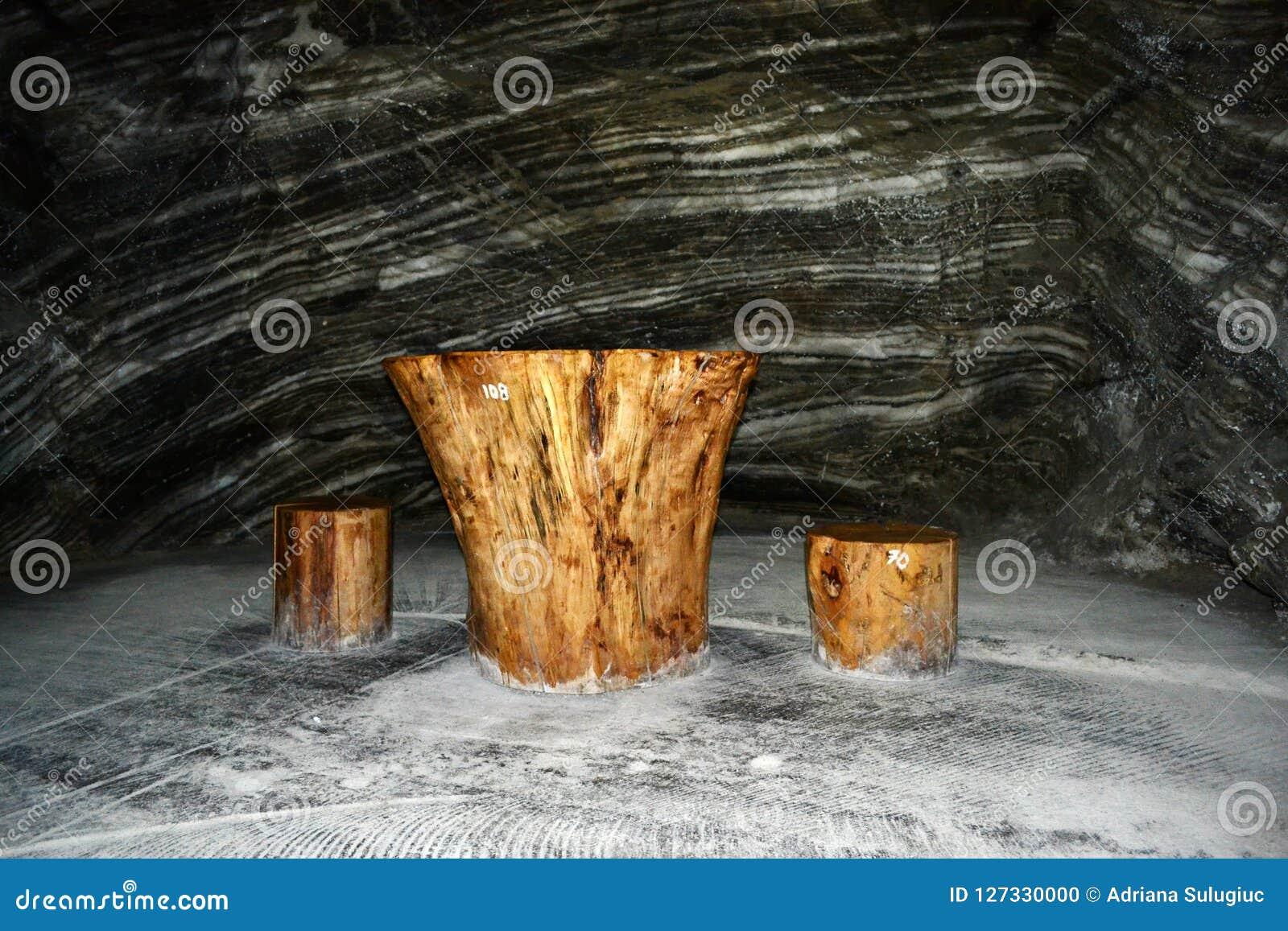 Место воссоздания в солевом руднике Ocnele Mari