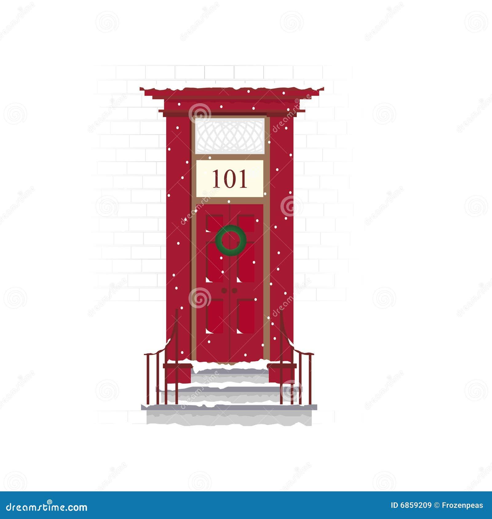 место двери рождества
