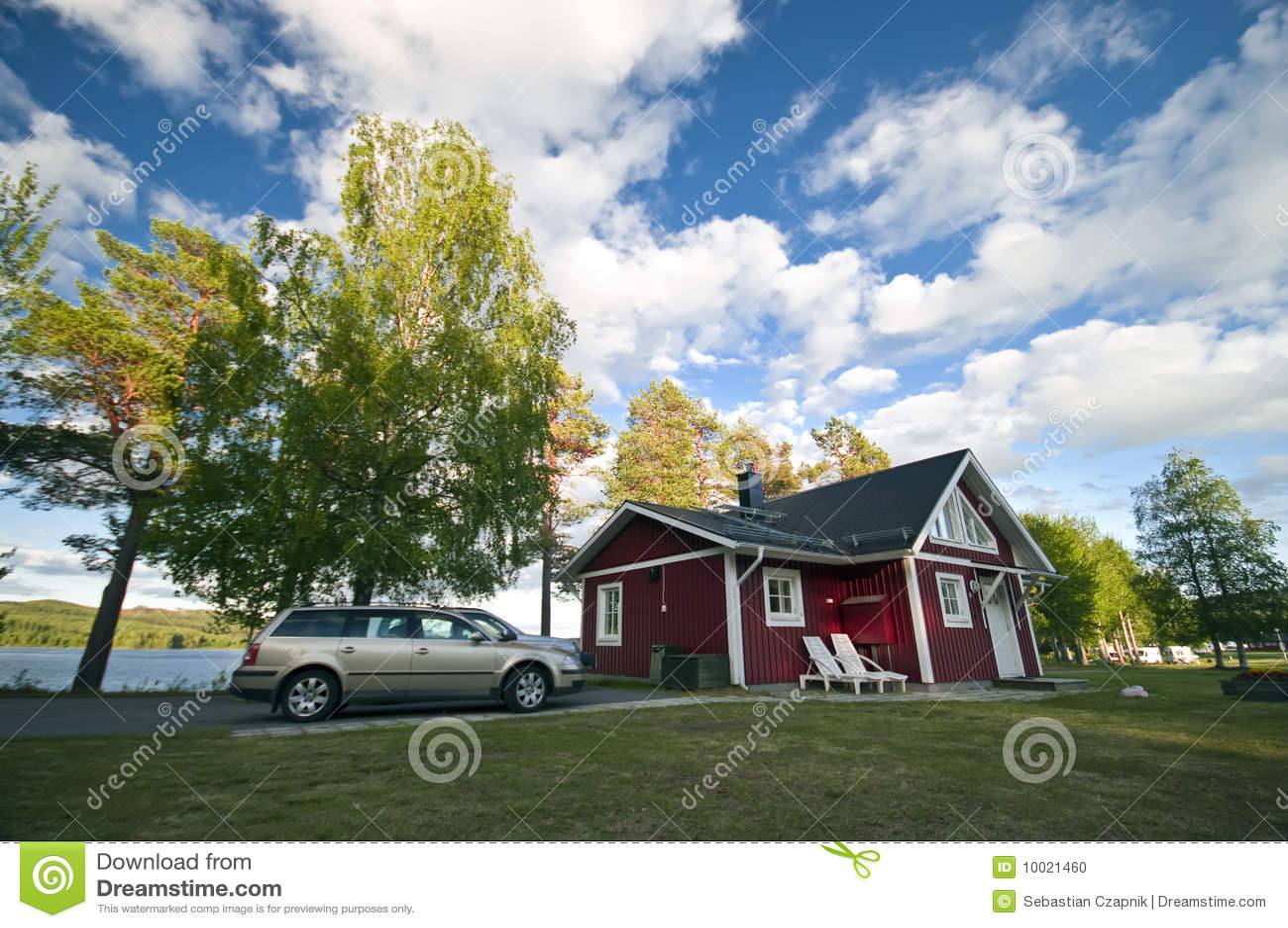 место дома автомобиля лагеря