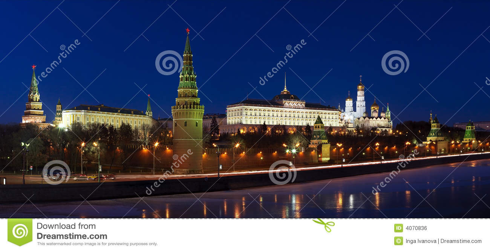 место ночи kremlin moscow