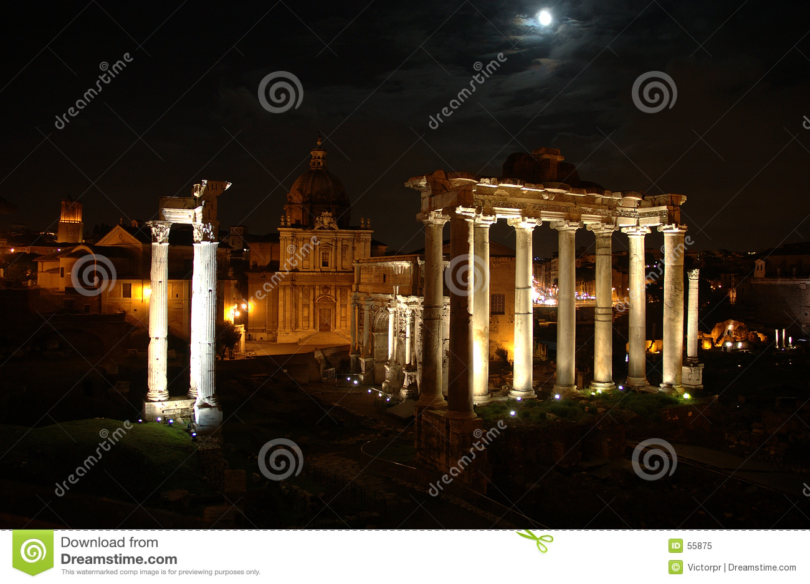 место rome ночи