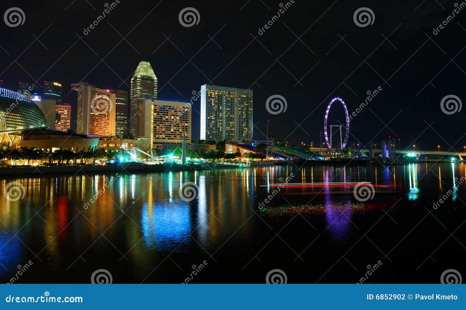 место singapore ночи