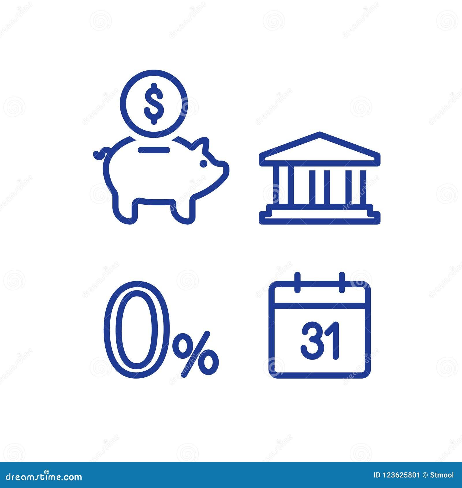 Месячный платеж, zero знак процентов, финансовый календарь, годовой доход, возвращение денег копилки, пенсионный фонд долгосрочны