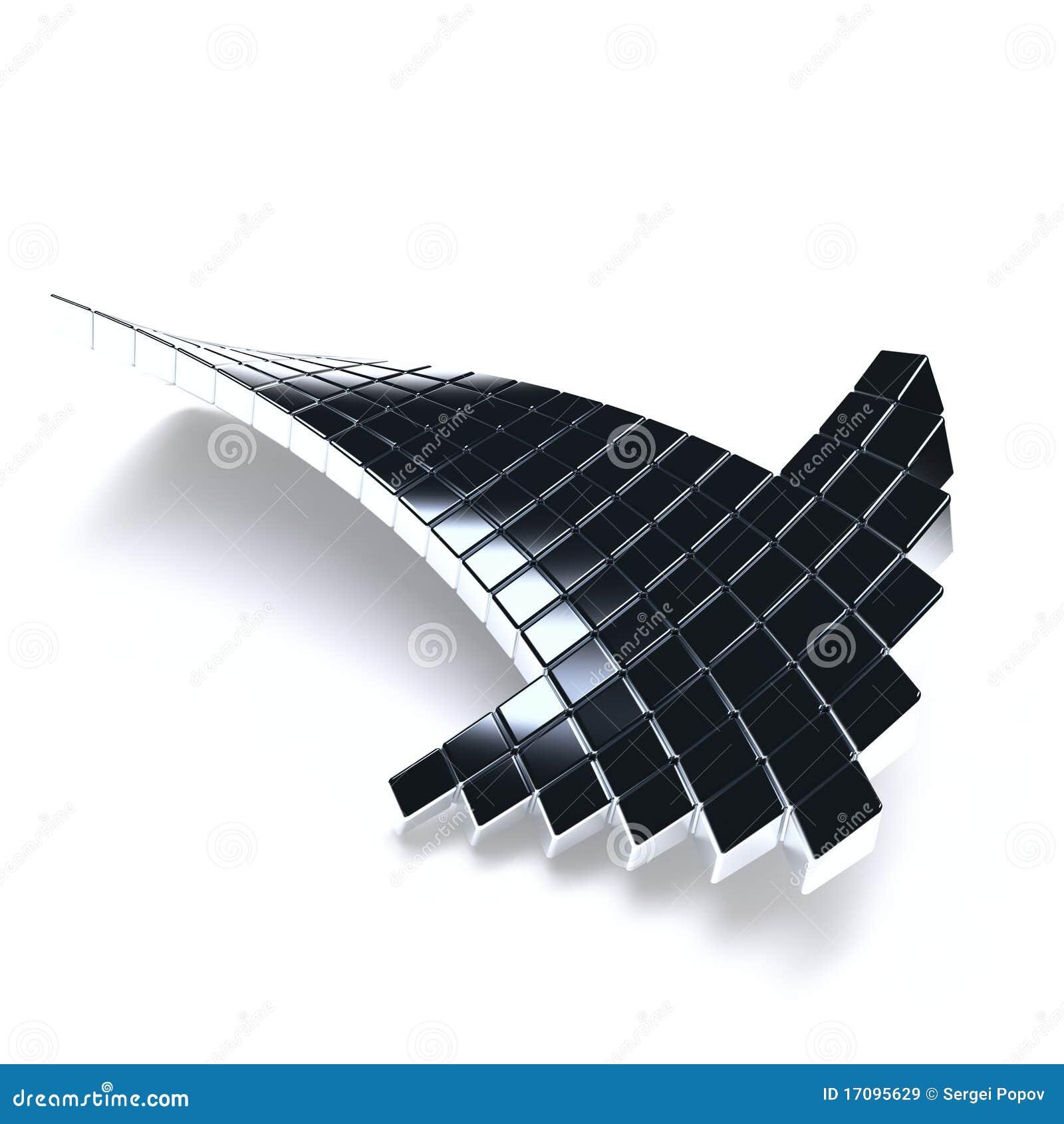 металлическое стрелки темное