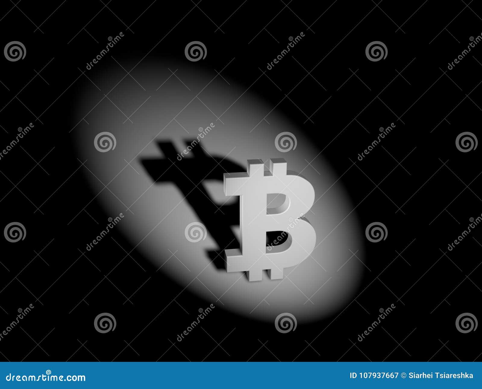 Метка Bitcoin концепция теневой экономики 3d