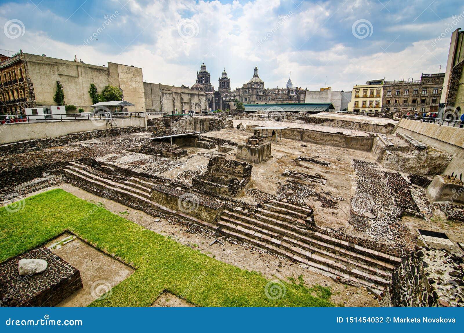 Мехико, Мексика - 12-ое апреля 2012 Музей мэра Templo