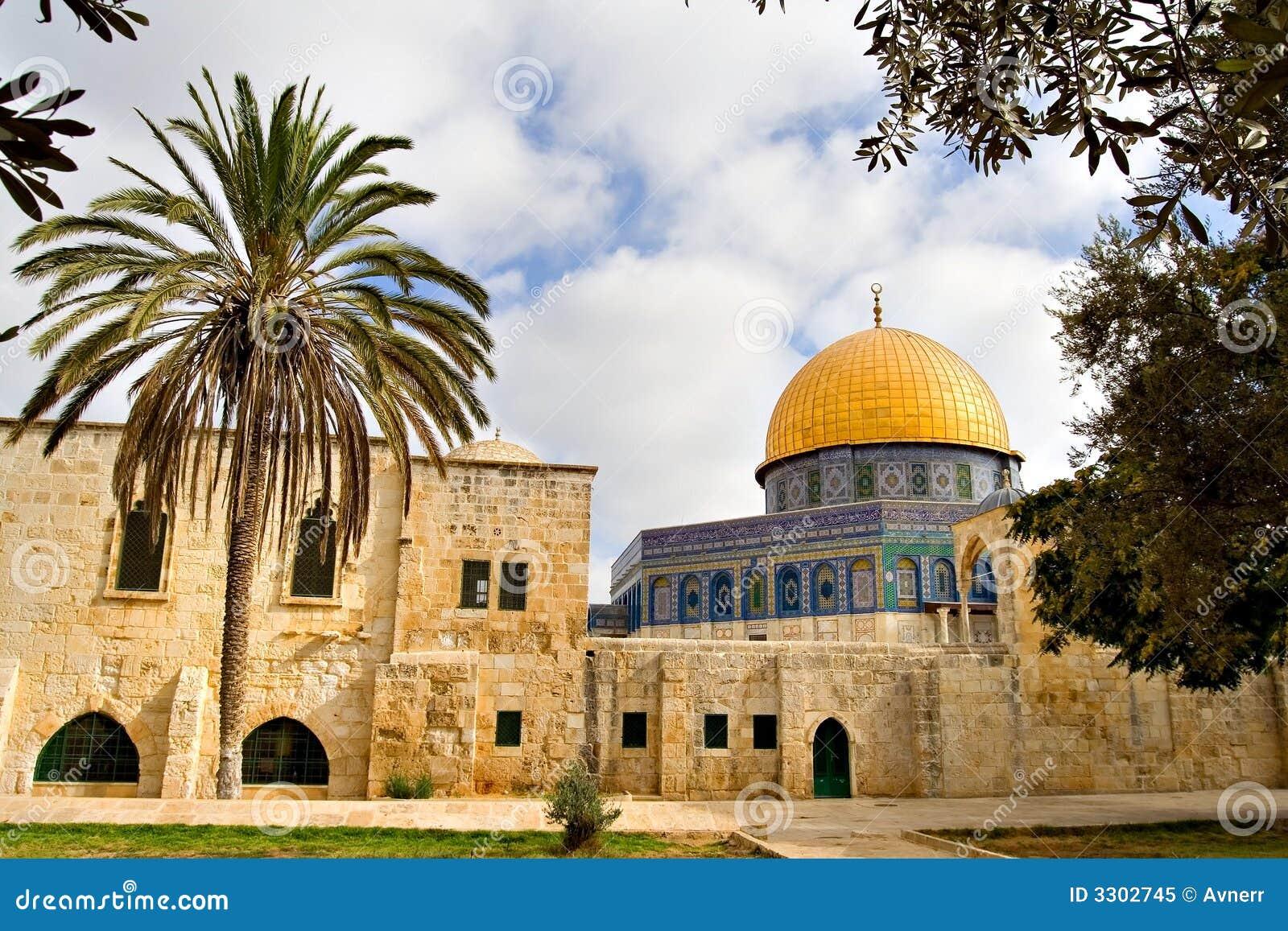 мечеть Иерусалима купола золотистая