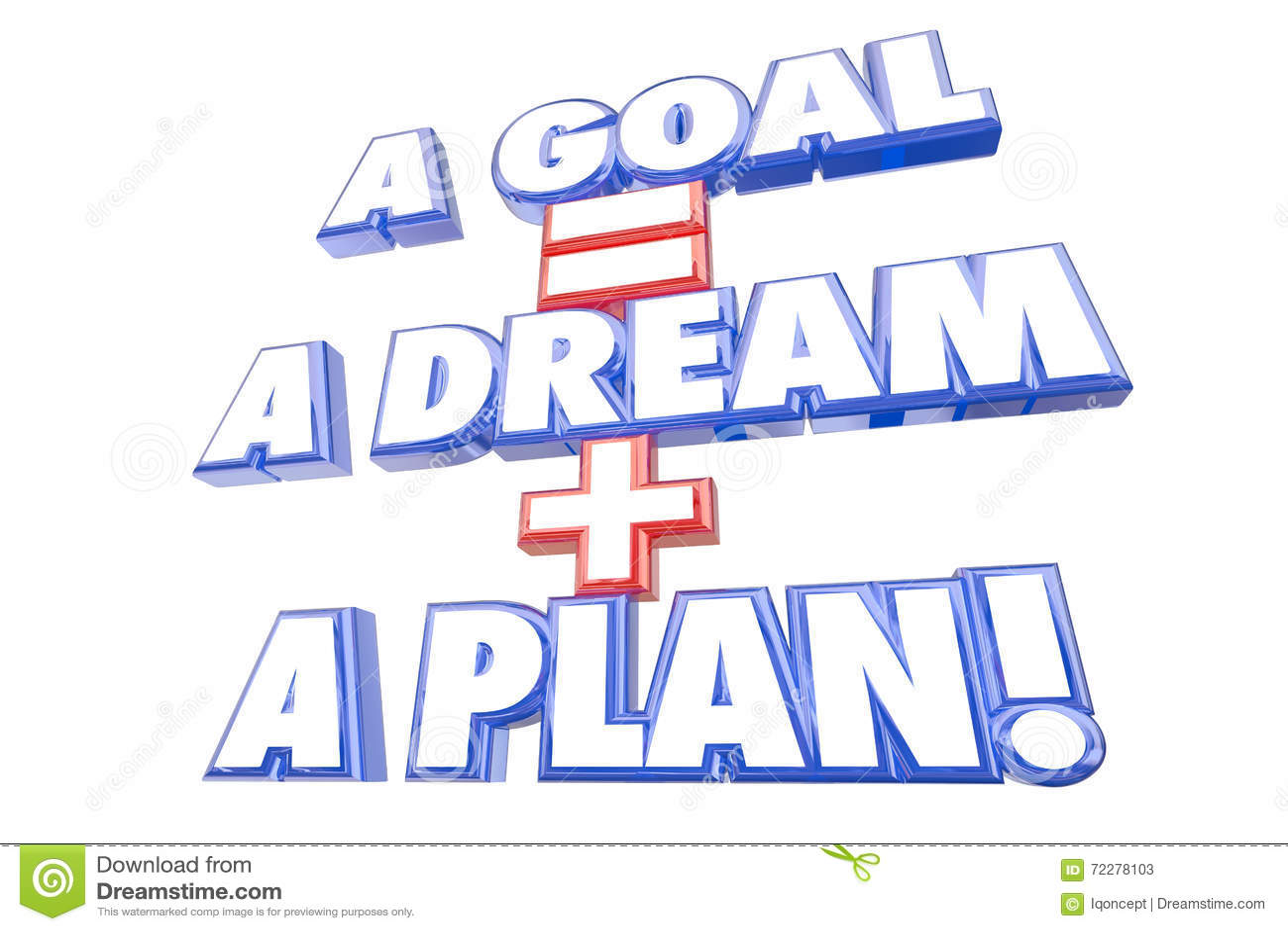 Download Мечта равных цели плюс слова плана Иллюстрация штока - иллюстрации насчитывающей положительно, себя: 72278103