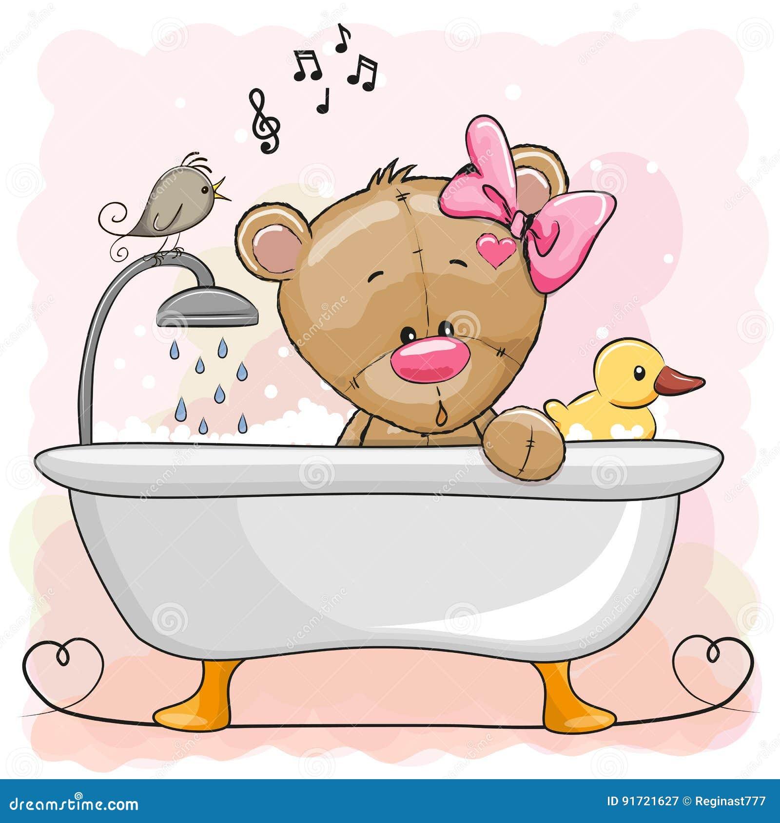 женские картинки медведь под душем несколько