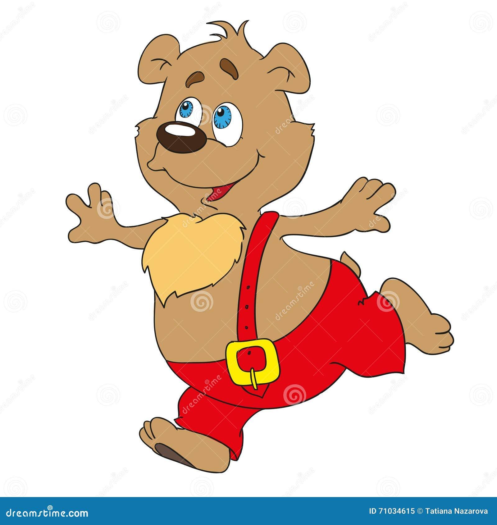 Медведь персонаж из мультфильма Doodles иллюстрация,