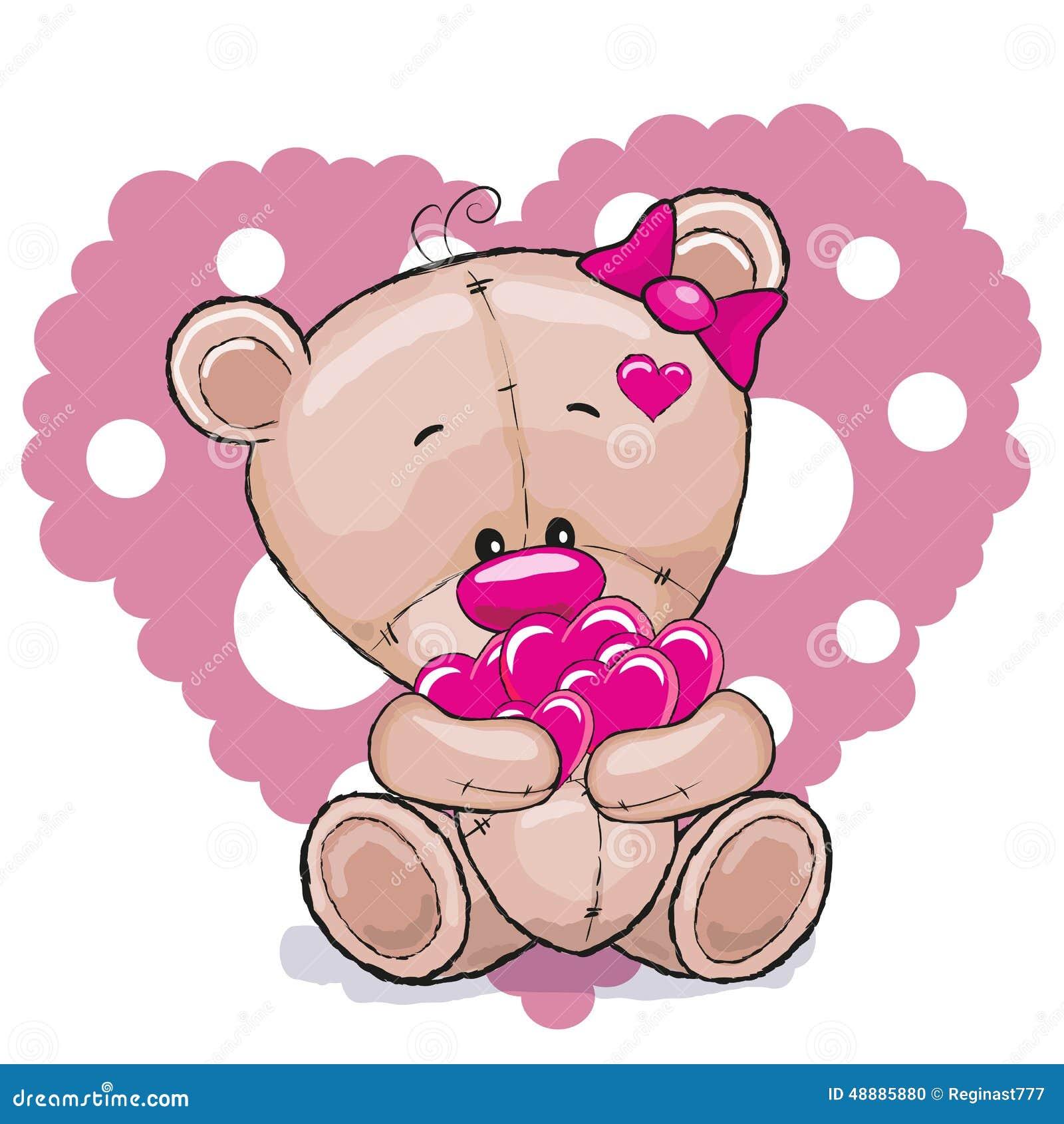Медведь с сердцами