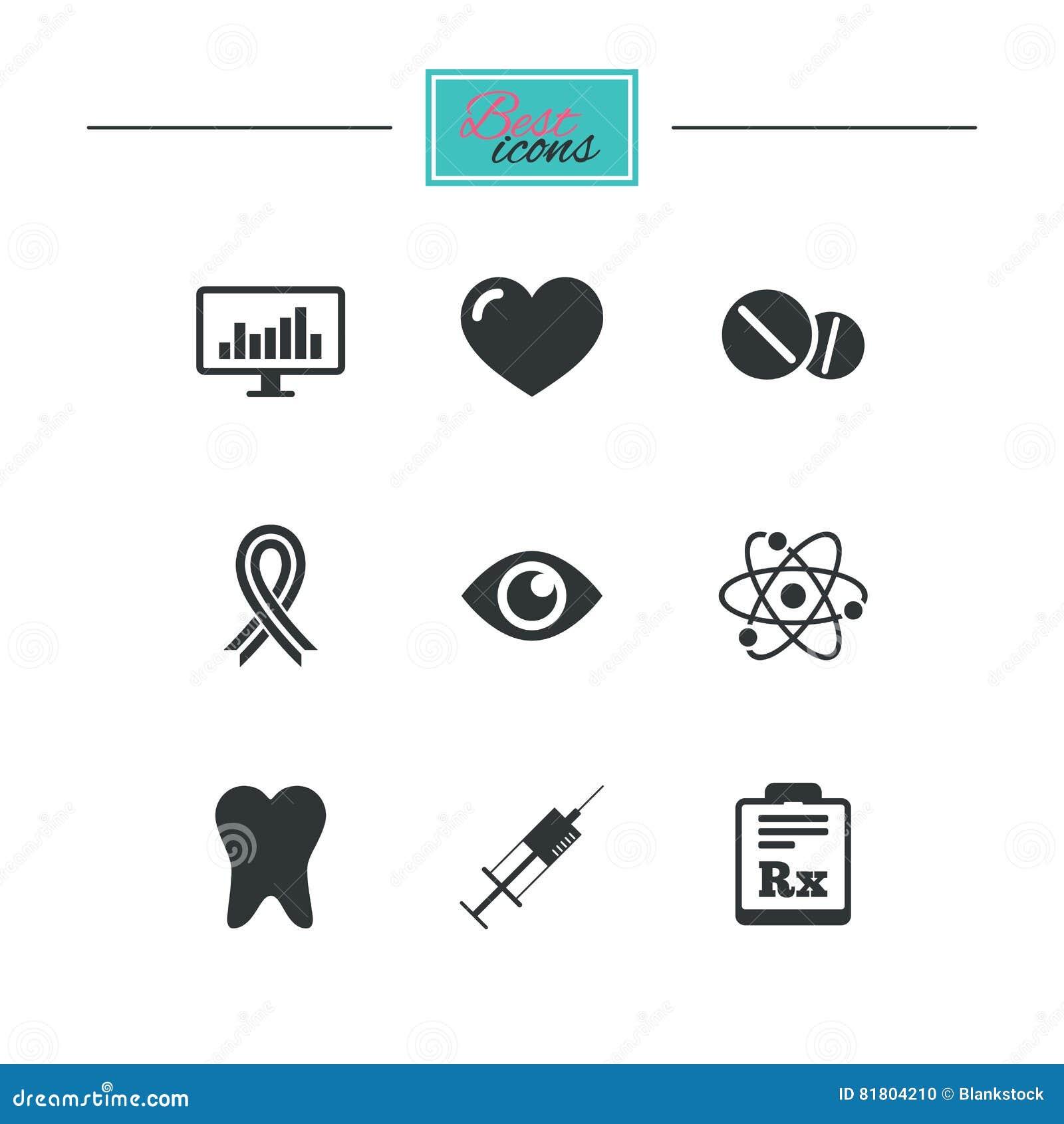 Медицина, медицинское здоровье и значки диагноза