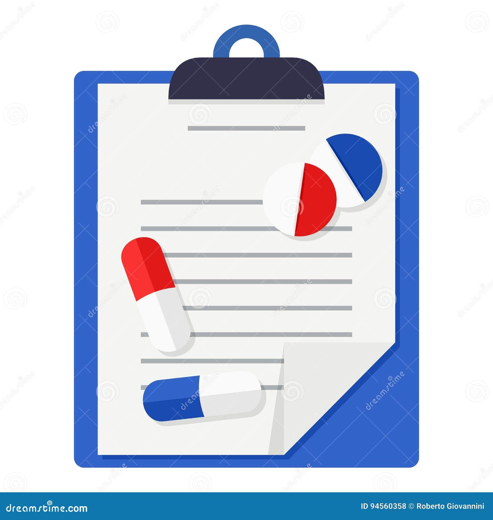 Медицинские истории, таблетки & значок пилюлек плоский
