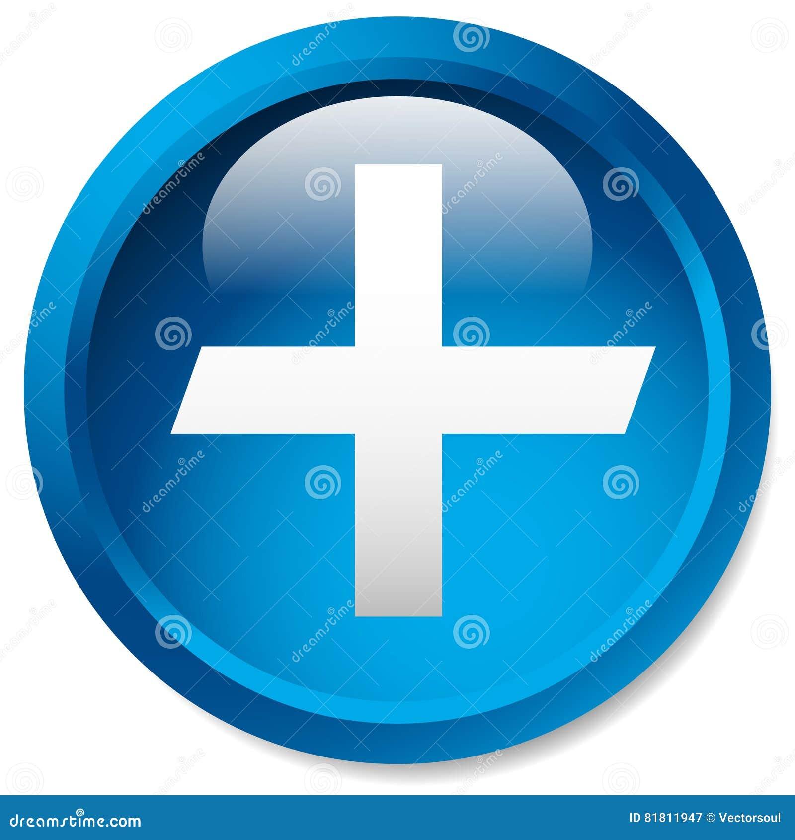 Медицинский, здравоохранение, скорая помощь плюс, перекрестный значок Лоснистый круг b