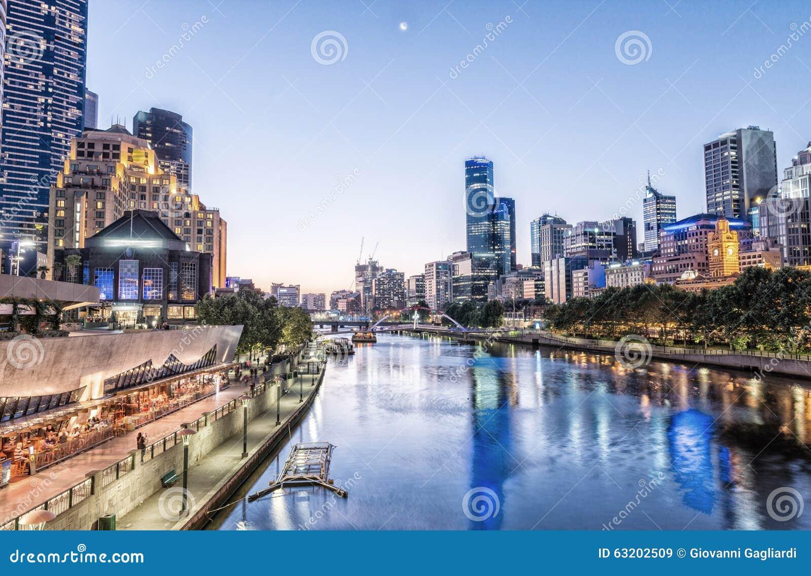 Мельбурн, Виктория - Австралия Красивый горизонт города